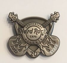 HARD ROCK CAFE ATLANTA 20th ANNIVERSARY 2012 STAFF PIN 3D PICK WITH GUITARS