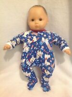 """15"""" Bitty Baby 4th of July dogs sleeper pajamas pjs twins girl/boy Doll Clothes"""