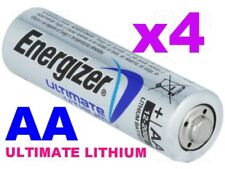 **EXPIRY 2037** 4 x ENERGIZER ULTIMATE AA LITHIUM BATTERIES LR6 L91 NEW 1.5v NEW