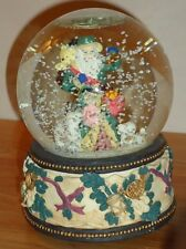 "Santa w/Lamb & Puppy Musical Snow Globe ""Silent Night"" 5.75""H"
