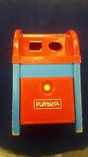 1960s Vintage PLAYSKOOL POSTAL STATION - WOODEN BOX