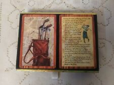 VTG DOUBLE DECK CONGRESS PLAYING CARDS GOLF THEME PRINTED IN SPAIN