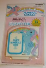 G1 Vintage My Little Pony MLP BOW TIE Numeral Candle, 1984 Hasbro Unique, MOC