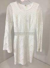 Women's MISSGUIDED Crochet Lace Out Bodycon Dress White UK 4/US 0 NWT