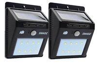 Solar Powered PIR Security Lights Motion Sensor Outside Lighting X 2 Lights