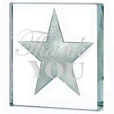 "Spaceform Glass Miniature Token Silver Star ""Thank You"" Keepsake Gift Idea"