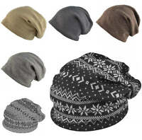 Quality Beanie Hat Mens Ladies Slouch Winter Woolly Ski Knitted Fashion