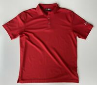 Callaway Opti-Dri Golf Polo Shirt Mens Size Large Red Performance