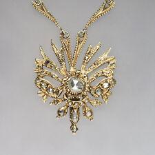 Collier mit ca. 2,00ct Diamant Rosen in Silber vergoldet