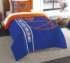 Brand New Licensed New York Knicks Comforter Set Blue/orange 2 Piece Twin