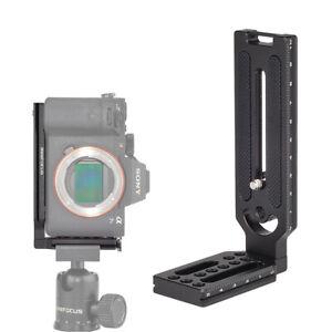 L Shape Bracket Quick Release Plate Vertical Video Universal DSLR Camera Mount