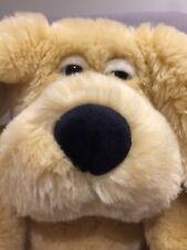Vintage Commonwealth Plush Toy Sleep Dog Fluffy Big Ears (2001) 35 Cm Tall Apprx