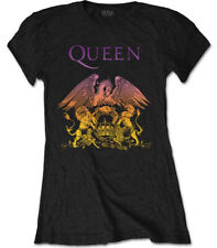 Queen 'Gradient Crest' (Black) Womens Fitted T-Shirt - NEW & OFFICIAL!