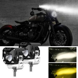 Projecteurs LED Longue Portée pour Pare-Choc Moto Feux de Route Phare Avant 60W