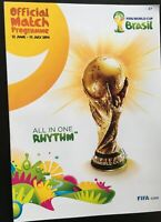 2014 FIFA WORLD CUP FINALS HELD IN BRAZIL OFFICIAL TOURNAMENT PROGRAMME - MINT
