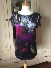 MARC CAIN MULTI SILK FRONT TUNIC SIZE N2 BNWT