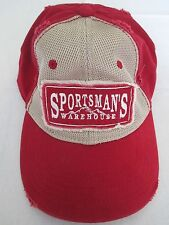 Sportsmans Warehouse Red Adjustable Baseball Fishing Cap Hat Great Condition