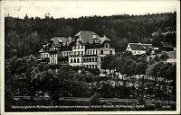 Mühlhausen 1937 Genesungsheim mit Landpoststempel Sohl über Adorf (Vogtland)
