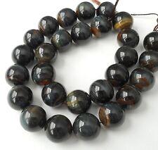 6pcs-Shiny-14mmX14mm Golden blue Tiger's eye gemstone round beads