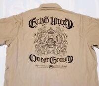 Ecko Unltd Mens Casual Short Sleeve Shirt Size XXL 2XL Heavily Embellished EUC