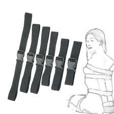 6PC Adult Body Harness Bundled Belts Bondage Set Body Restraint Kit System Toy