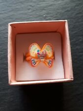 New childs orange butterfly cute ring UK size J.5! Childrens kids jewellery!