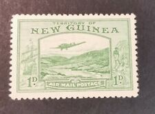 New Guinea 1939 Airmail Bulolo Goldfields 1d green  Mint  Hinged J10
