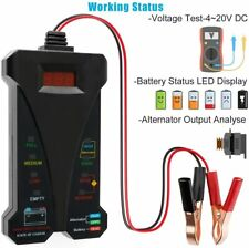 12V Digital Battery Tester Voltmeter Alternator Charging System Analyzer for Car