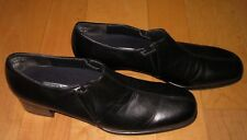Munro Wms Black Leather Heels 9.5 SS