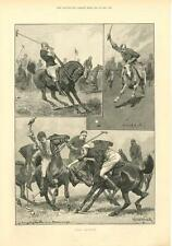 Polo Playing   -    by R. Caton Woodville      -     1891