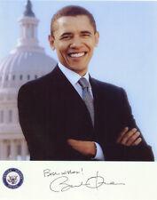 Barack Obama  ++ Autogramm  ++ USA ++ Präsident ++ Autograph + Michelle