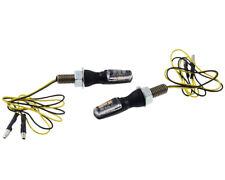 Blinker Paar LED Motorrad Shin YO SPARK, schwarz, klares Glas, M8, 25x11x14,5mm