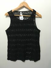 BNWT ''Now''  Black Delicate Sheer Sleeveless Lace Top  Size 20