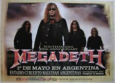 "Megadeth concert poster Buenos Aires / Argentina 2014 / 26""x19"" (65x47cm)"