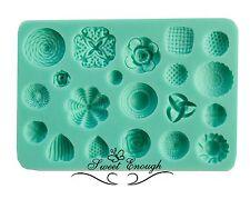 Sugarcraft Molde Rosetas corazón Botones Antiguos Pastel Decoración Molde De Silicona