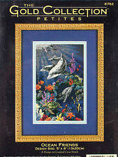 Dimensions OCEAN FRIENDS Cross Stitch Kit Gold Collection Petites Dolphins Fish