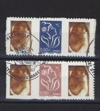 Frankreich 2006 - Marianne Lamouche 4168-69 II Zf skl. gestempelt France adhésif
