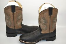 Double H Mens 11' Wide Square Toe Roper WESTERN 13 D WORK Boot Black/Grey DH3585