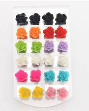 lot de 12 paires de boucles d'oreilles roses + présentoir lot revendeur