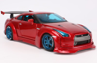NISSAN GT-R 1:24 Scale Metal Diecast Toy Car Model Models Toy Miniature GTR Red