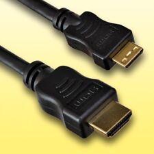 HDMI Kabel für GoPro HD Hero 2 Digitalkamera   Mini C   Länge 1,5m   vergoldet