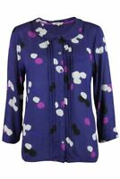 *WHITE STUFF* DEEP PURPLE SPOT PRINT BLOUSE / SHIRT / TOP - **NEW**  6 - 18