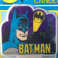 Vintage 1989 Batman Birthday Candle Cake Topper Decoration DC Comics