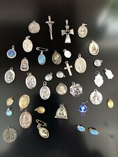 Lot of religious medals, cross, pendant, crucifix 37 pieces Lot # 2