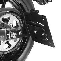 Kennzeichenhalter seitlich M für Kawasaki Vulcan S / Café 15-20 schwarz