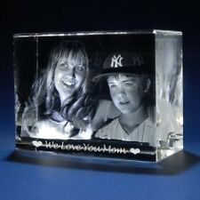 3D Laser Crystal Glass Personalized Etched Engrave Gift Mother's Day Landscape L