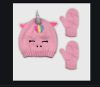 Baby Girls Unicorn Hat And Glove Set - Cat & Jack™ Pink  12-24M  #12
