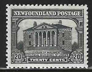 Newfoundland, 1931, Scott #171, 20c gray black, Mint, Hinged, V.F.