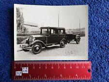 Foto Auto Oldtimer Opel Vorkrieg Kfz Pkw mit Anhänger !! Kennzeichen Berlin