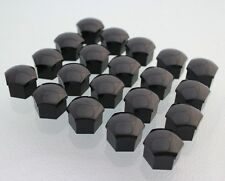NEW VW- AUDI- BMW  17mm Hex Black Lug Stud/Bolt Covers QTY:20 (17mm Black Hex)